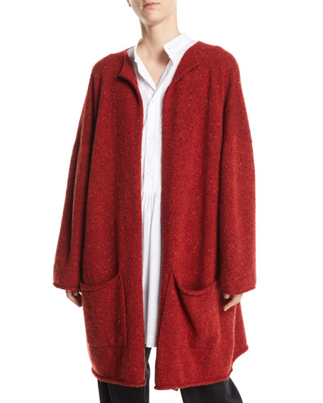 Open-Front Wool-Cashmere Cardigan