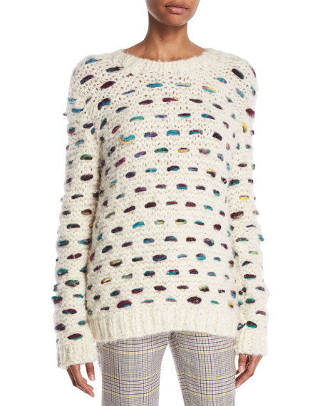 Gabriela Hearst Marello Crewneck Cashmere-Wool Cable-Knit Sweater