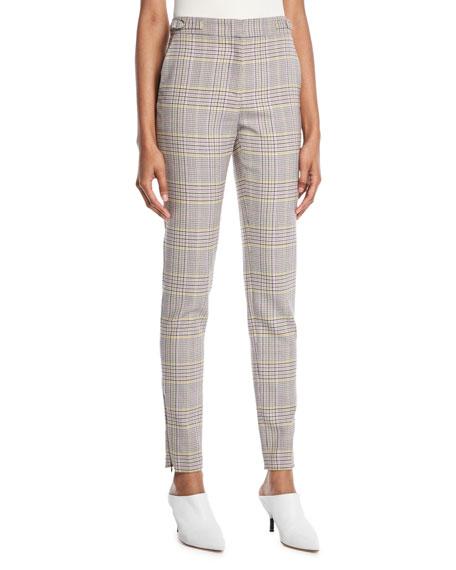 Gabriela Hearst Lisa Skinny-Leg Plaid Wool Sportswear Pants