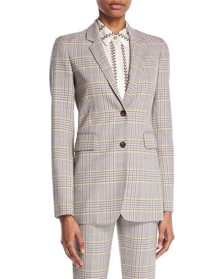 8575f45bb044d Gabriela Hearst Sophie Single-Breasted Plaid Wool Sportswear Blazer
