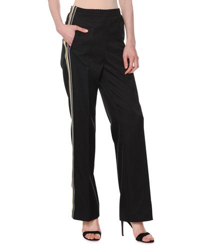 Straight-Leg Striped Track Pants