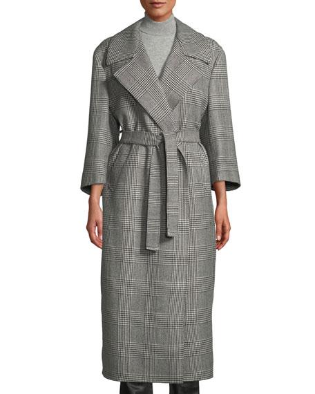 GIULIVA HERITAGE The Linda Houndstooth Check Robe Coat in Black/White