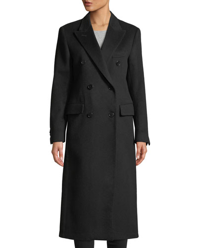 The Cindy Double-Breasted Wool Calf-Length Coat