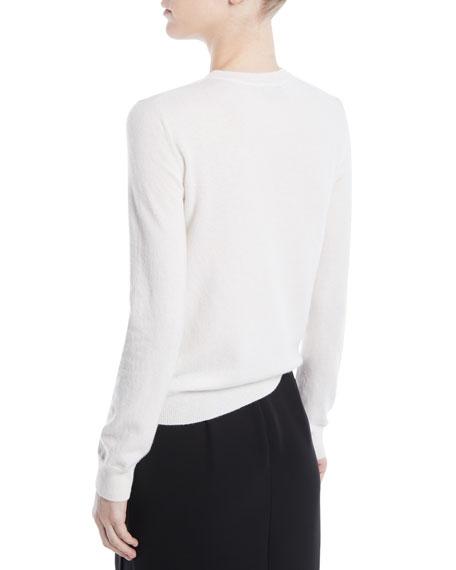 VLTN Crewneck Long-Sleeve Wool-Cashmere Sweater