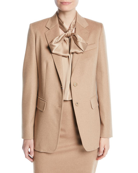 Penteon Two-Button Camel Hair Jacket