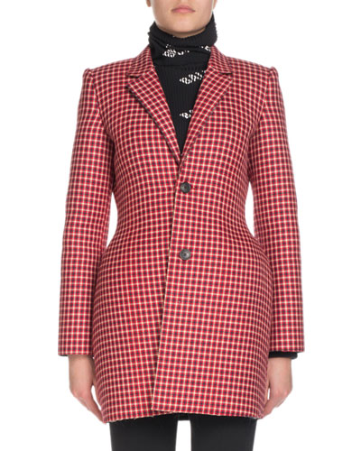 Hourglass Check Blazer Jacket