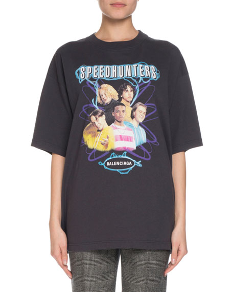 Balenciaga Short-Sleeve Speed Hunters Band T-Shirt