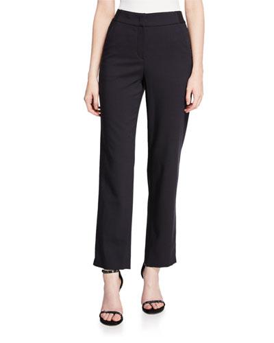 Stretch-Wool Split Cuff Pants
