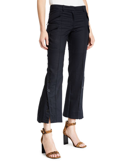 Rokh Cropped Flared Cargo Pants