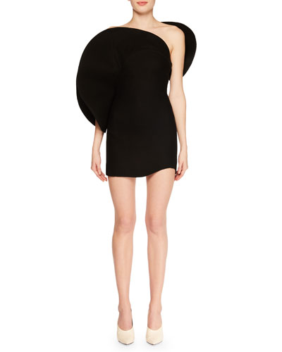 Strapless Structural Bustier Cocktail Mini Dress