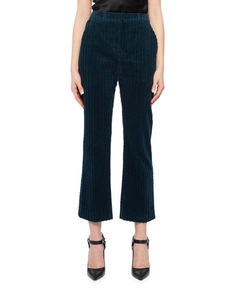 Altuzarra Cropped Pants in Velvet Corduroy