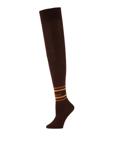 Logo-Print Knee-High Socks