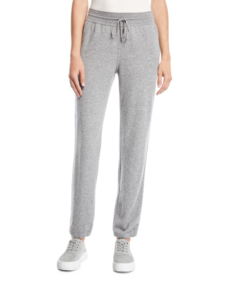 SNOWY CASHMERE TRACK PANTS