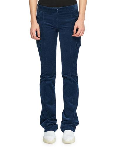 Straight-Leg Corduroy Pants