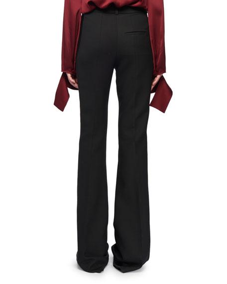 High-Waist Narrow Boot-Cut Wool-Blend Tux Trousers