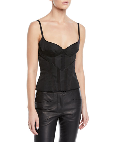 Olivier Theyskens Adjustable Bra and Corset with Silk