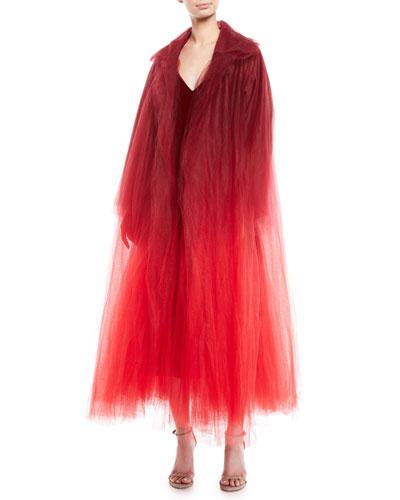 Dip-Dye Tulle Coat