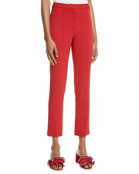 Adam Lippes High-Rise Cropped Cigarette Trousers