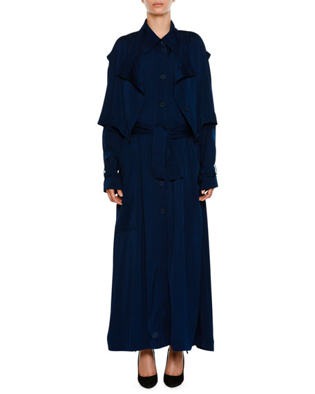Stella McCartney Long Button-Front Trench Dress