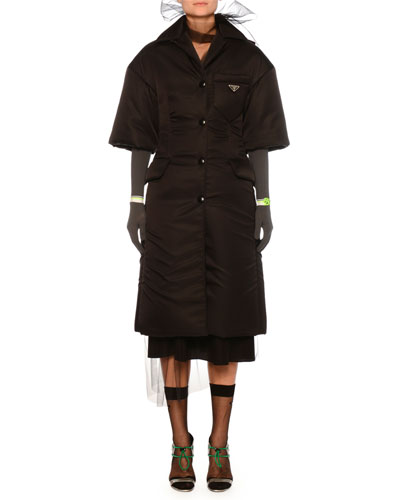 Snap-Front Impermeable Gabardine Nylon Jacket