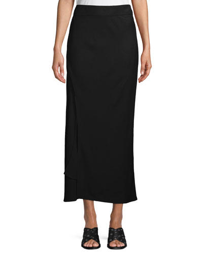 A-Line Long Bias Slip Skirt