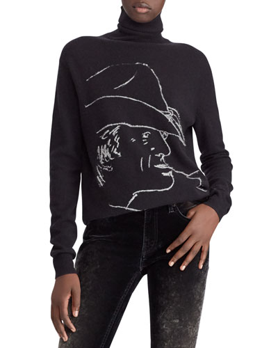 50th Anniversary RL Silhouette Turtleneck Wool-Cashmere Sweater