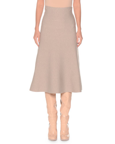 Merino Wool Midi Skirt
