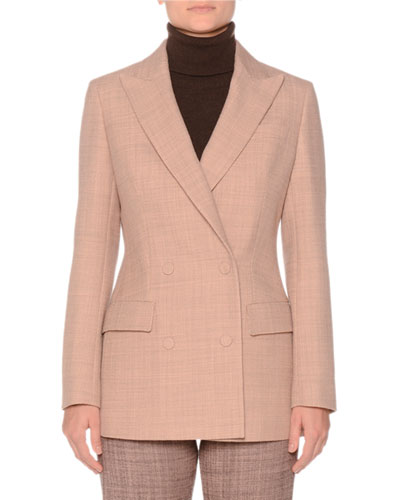 Double-Breasted Wool Hourglass Jacket