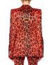 One-Button Jaguar-Print Bugle-Beaded Velvet Jacket