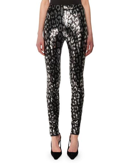 73159f64 TOM FORD Leopard-Print Liquid-Sequin Leggings