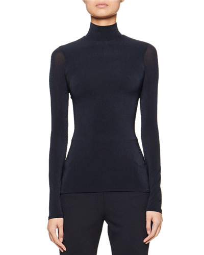 Rudd Long-Sleeve Stretch-Jersey Turtleneck Top