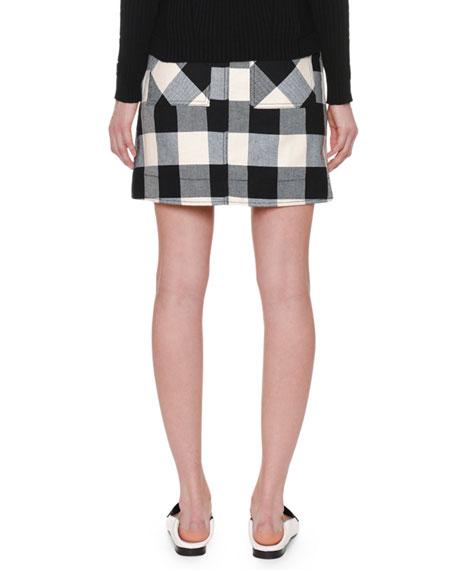 A-Line Plaid Mini Skirt