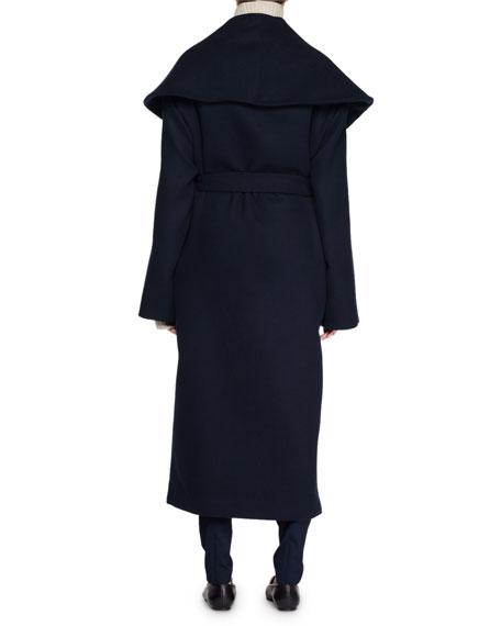 Utan Self-Tie Wool-Blend Coat