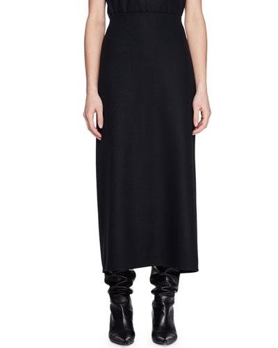 Stratski A-Line Long Wool Skirt