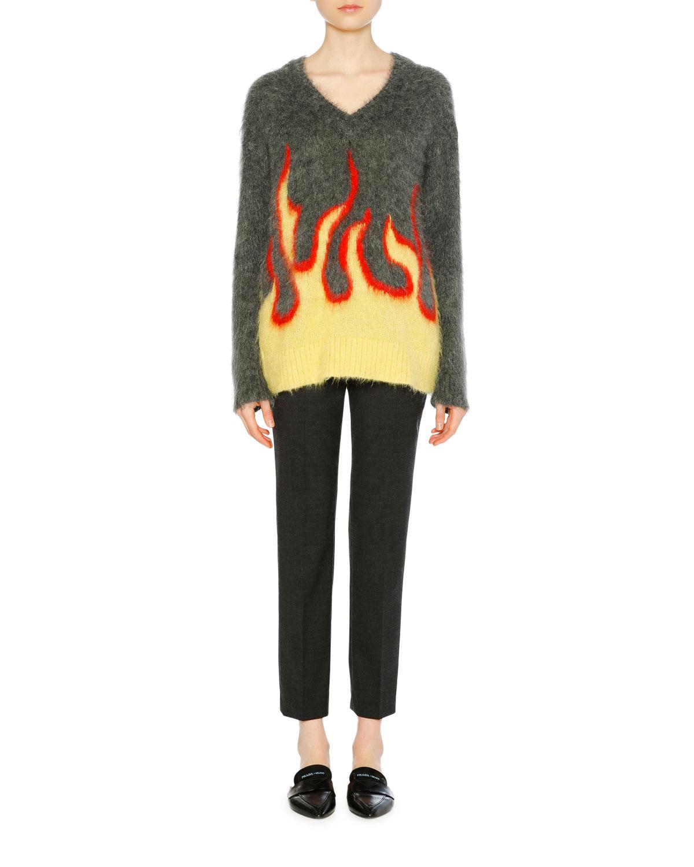 Prada Flaming Shoe Oversized Kapuzenpullover Damen