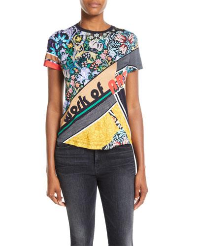 Work of Art Crewneck Short-Sleeve Printed Jersey T-Shirt