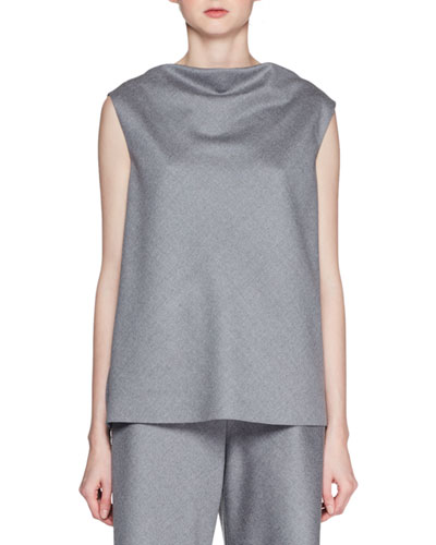 Shella High-Neck Sleeveless Wool Top