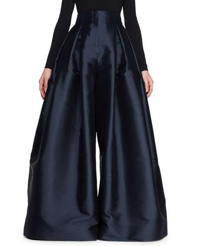 Garcia High-Waist Wide-Leg Pants
