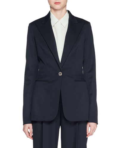 Limay One-Button Wool Jacket