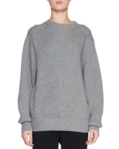 Evanley Crewneck Ribbed Cashmere Sweater