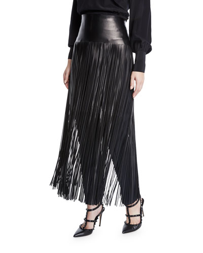 Leather Fringe Overskirt