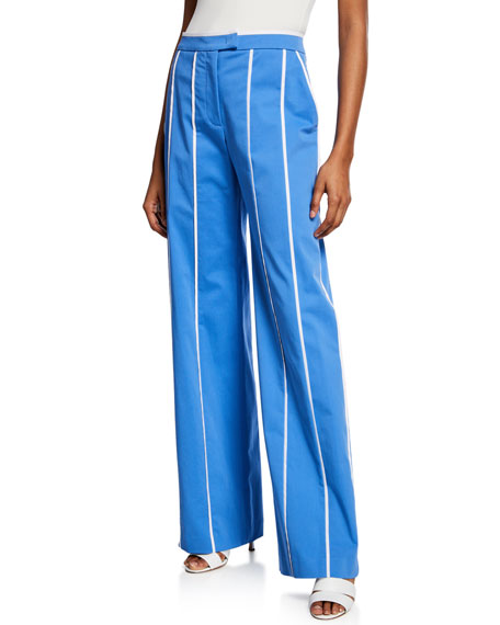 Derek Lam Seam-Striped Cotton Trousers
