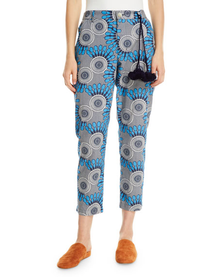 Figue Zuri African Moon Floral Cropped Pants
