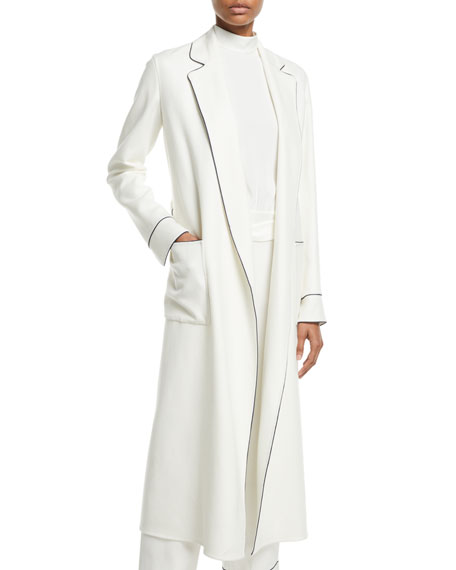 Loro Piana Norian Open-Front Belted Long Cashmere Coat