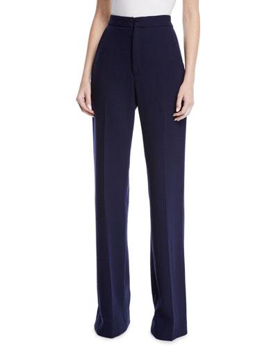 Maggie High-Rise Wool Pants