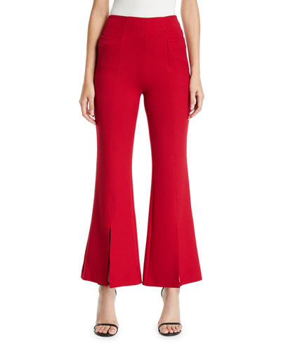 Flare-Leg Jersey Trousers