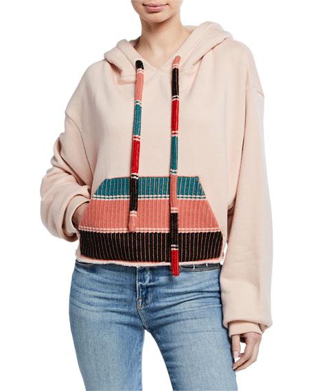 Cotton-Cashmere Knit Pocket Hoodie