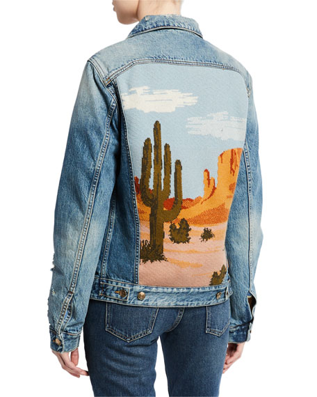 Desert-Landscape-Back Denim Jacket