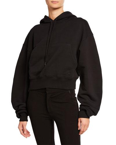 Oversized Cropped Hoodie Sweatshirt