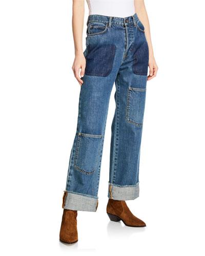 Pocket Detail Denim Trousers